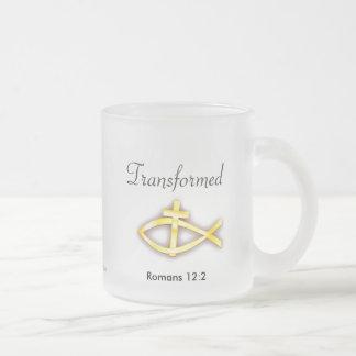 Christian Frosted Glass Mug