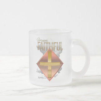Christian Frosted Mug With Forever Faithful Design