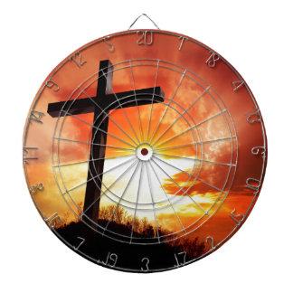 Christian gift Cross Dartboard