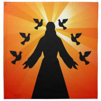 Christian gift Jesus and doves Napkin