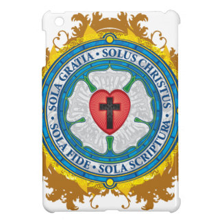 Christian Gift Luther Rose Jesus Cross God Angels iPad Mini Case