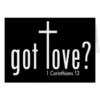 "Christian ""got love?"" Folded Card"