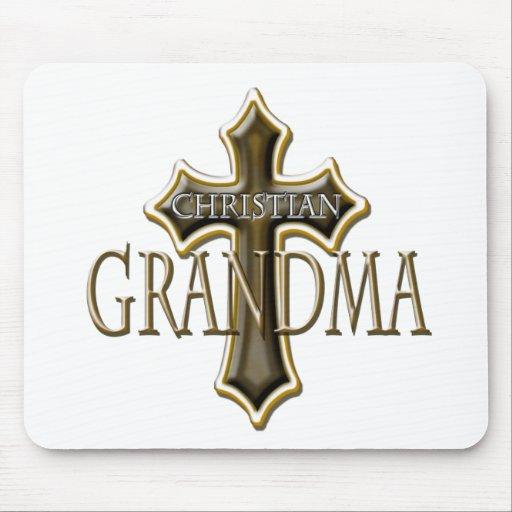 Christian Grandma Mouse Pads