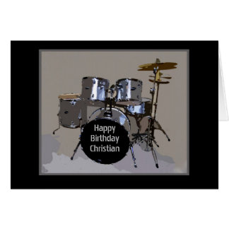 Christian Happy Birthday Drums Card