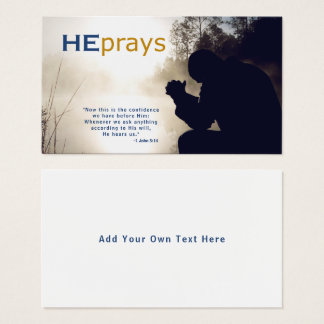 Christian HE PRAYS Business Card
