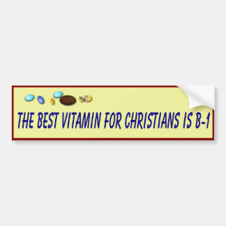 Christian Health Advise Bumper Sticker