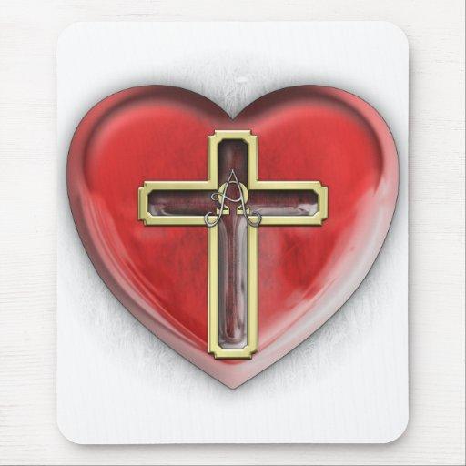 Christian Heart Mousepad