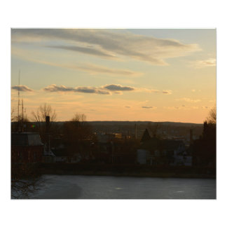 CHRISTIAN HILL RESERVOIR SUNSET PHOTO PRINT