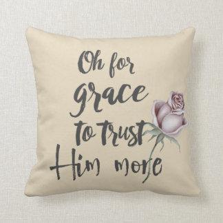 Christian Hymn Lyric; Grace Cushion