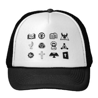 Christian icon set mesh hat