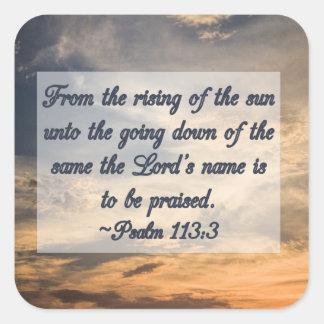 Christian Inspiration Scripture Psalms Square Sticker