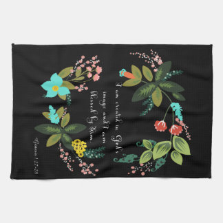 Christian Inspirational Art - Genesis 1:27-28 Tea Towel