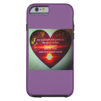 Christian Inspirational Iphone Case with heart