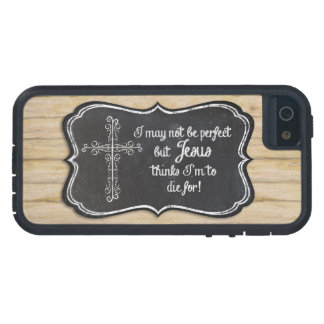 Christian Inspirational Jesus Cross Chalkboard Tough Xtreme iPhone 5 Case