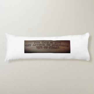 """Christian Inspirational Pillow"" Body Cushion"