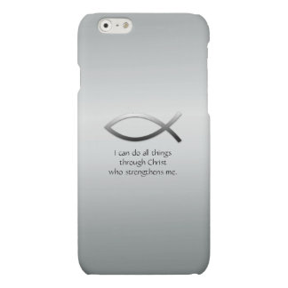 Christian Jesus Fish With Your Custom Bible Verse