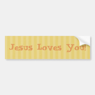Christian Jesus Loves You! Bumper Sticker
