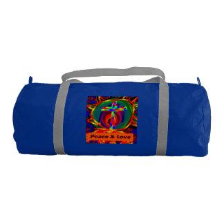 Christian Jesus Saves Peace Love Duffle Gym Bag