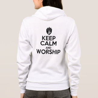 Christian KEEP CALM AND WORSHIP Hoodie