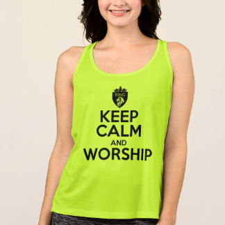 Christian KEEP CALM AND WORSHIP Singlet