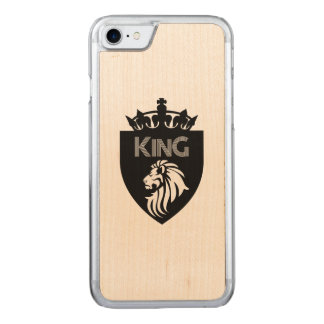 Christian King of Kings Lion Carved iPhone 8/7 Case