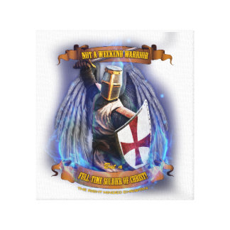 Christian Knight Soldier Canvas
