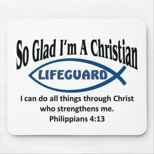 Christian Lifeguard Mouse Pads