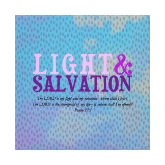Christian LIGHT AND SALVATION w/Scripture Canvas Print