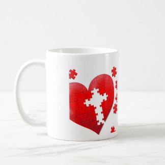 Christian love heart jigsaw puzzle coffee mug