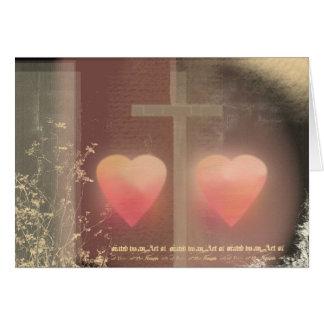 Christian love wedding card