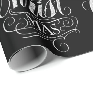 Christian Merry Christmas Chalk Calligraphy Jesus Wrapping Paper