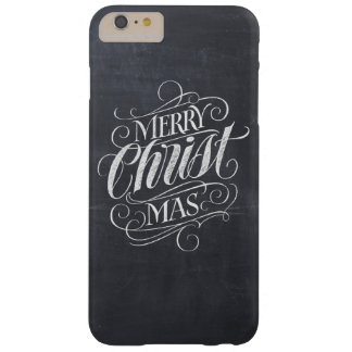 Christian Merry Christmas Chalkboard Calligraphy Barely There iPhone 6 Plus Case