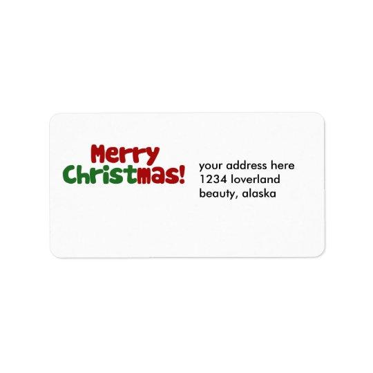 Christian Merry Christmas Label