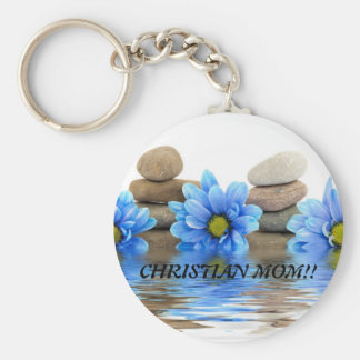 CHRISTIAN MOM!!... Religious key ring Basic Round Button Key Ring