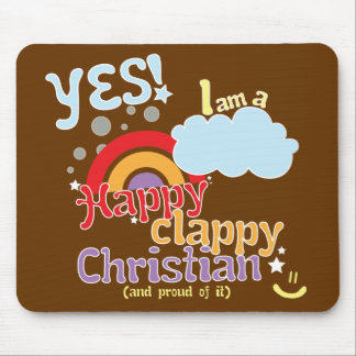Christian mousemat: Happy Clappy Christian Mouse Pad