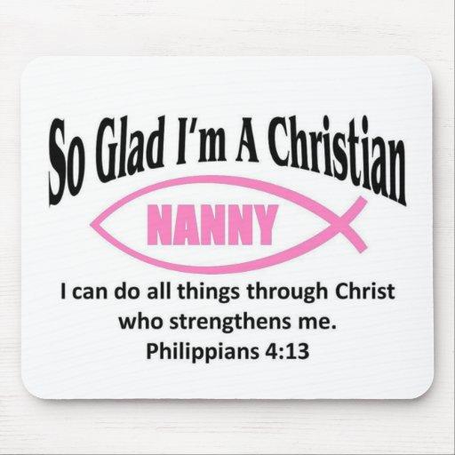 Christian nanny mousepads