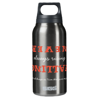 Christian Never Falling Always Rising with Verse Insulated Water Bottle