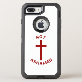 Christian Not Ashamed Red Cross and Text Design OtterBox Defender iPhone 8 Plus/7 Plus Case