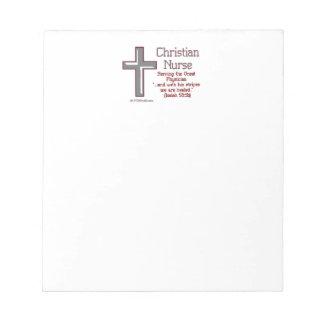Christian Nurse Cross 2 Notepads
