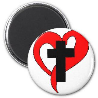Christian Open Heart Refrigerator Magnets