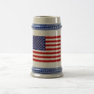Christian Origin of the U.S.A. Flag Beer Steins
