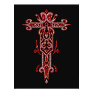 Christian Ornate Cross 22 21.5 Cm X 28 Cm Flyer