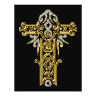 Christian Ornate Cross 24 21.5 Cm X 28 Cm Flyer