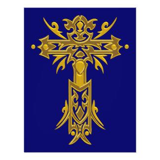 Christian Ornate Cross 27 21.5 Cm X 28 Cm Flyer