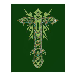 Christian Ornate Cross 28 21.5 Cm X 28 Cm Flyer