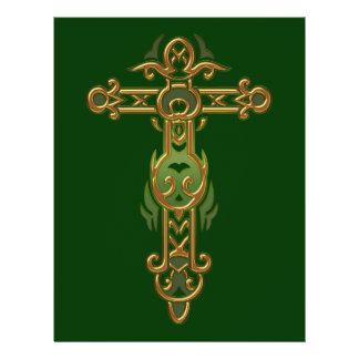Christian Ornate Cross 31 21.5 Cm X 28 Cm Flyer