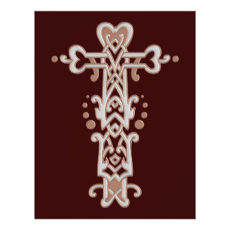 Christian Ornate Cross 38 21.5 Cm X 28 Cm Flyer