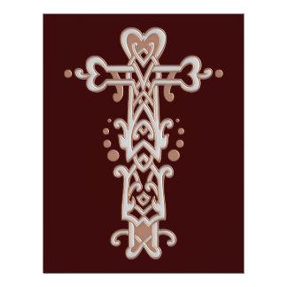 Christian Ornate Cross 38 21.5 Cm X 28 Cm Flyer