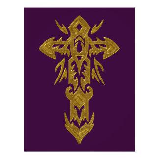Christian Ornate Cross 39 21.5 Cm X 28 Cm Flyer