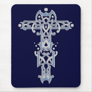 Christian Ornate Cross 40 Mouse Pad